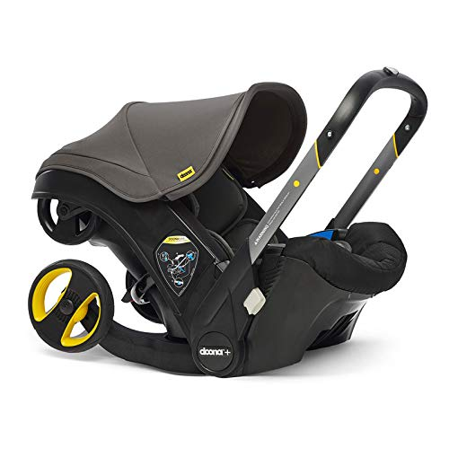 Doona Car Seat and Pram, Revolutionary 0+ Car Seat That Folds Between Car Seat & Pram in Seconds, ISOFIX Base Available. Car Seat H60cm x W44cm, Pram H99cm x 82cm. Perfect for Travelling - Urban Grey