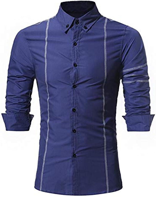- Men's Shirt - - - Striped Shirt Collar 3a36c6