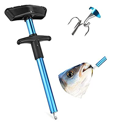 PERFETSELL Easy Fish Hook Remover Tool Aluminum Fishing Hook Extractor Fast Decoupling Hook Remover Portable OutFish Hook Separator Squeeze Out Fish Hook Remover for Fish Hook Decoupling,No Injury