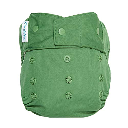 Product Image of the GroVia Reusable Hybrid Baby Cloth Diaper Snap Shell (Basil)