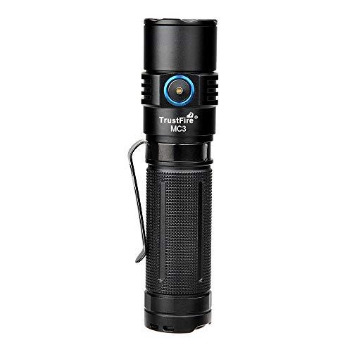 TrustFire MC3 Led Linterna 2500 lúmenes brillante CREE XHP50 LED con 21700 Li-ion batería y USB magnético recargable