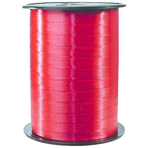 Clairefontaine 601701C - Bobina de cinta para regalo (500 m x 7 mm, ideal para proyectos de manualidades y regalos), color rojo