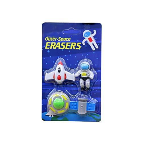 NUOBESTY suministros de diseño de forma de platillo volante alienígena borrador para niños niños (estilo aleatorio, 1 juego)