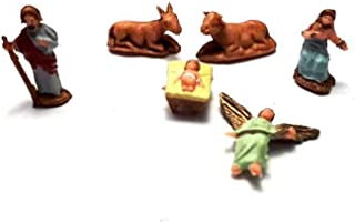 ricevi 1 Animale Mucca Vacca Adatto A PASTORI 6-8 CM PLASTICA Landi PRESEPE San Gregorio ARMENO Artigianali Portachiavi AMULETO Omaggio Shepherds Crib Gia