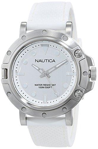 Nautica Reloj Analógico para Mujer de Cuarzo con Correa en Acero Inoxidable NAD12548G