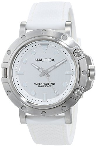 Nautica Damen Analog Quarz Uhr mit Edelstahl Armband NAD12548G