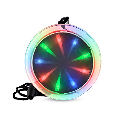 Deluxe Light Up Infinity Tunnel Necklace with Multicolor LEDs