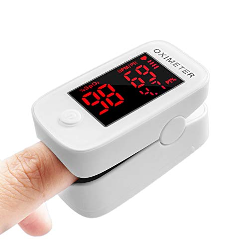 Finger Pulse Oximeter Oxygen Saturation Monitor - Pulse Ox Fingertip o2 Monitor for Pediatric and Adult