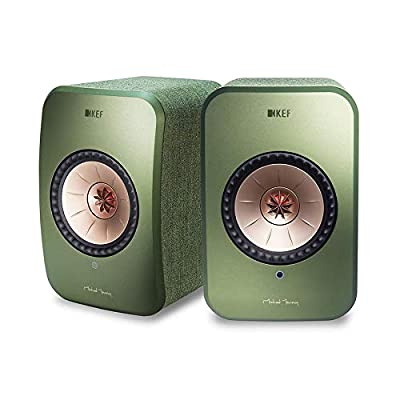 KEF LSX - Wireless Active Stereo Speakers with Bluetooth and Wifi Multiroom connectivity, Olive Green by KEF