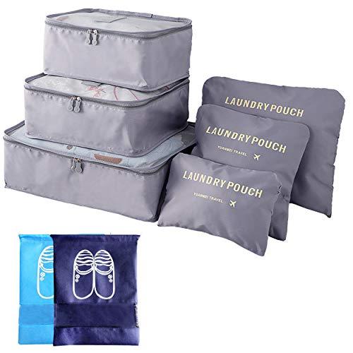 8 Cubi Di Imballaggio Lavanderia Portatile Pieghevole Sacchi Dei Bagagli 3 Cubo Borse Di Stoccaggio 3 Organizer Per Valigie 2 Borsa Portascarpe