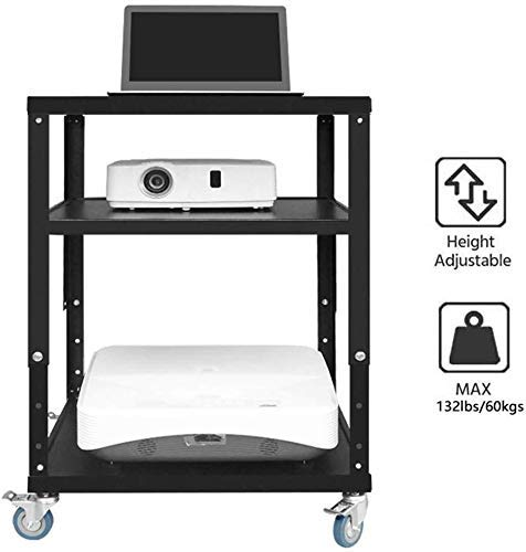 Convenient Practical Table Top Tv Stand Three-Layer Projector Bracket Cart Adjustable with Pulley Floor Storage Shelf Tv Laptop Shelf, Detachable