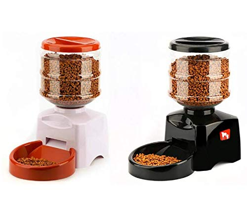 Automatic Digital Feeder for Dogs and Cats Black