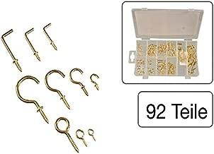 Am-Tech Z0505/19/mm Messing vergoldet getragen Schraubhaken/ /Mehrfarbig 16