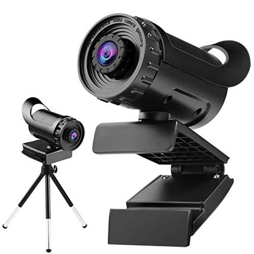 Cámara web con micrófono 1080p Full HD USB Web CAM con enfoque manual 5 millones de píxeles 120 ° Plug and Play de 120 °, para...