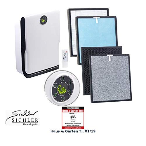 Sichler Haushaltsgeräte Luftreiniger HEPA: 6-Stufen-Luftreiniger mit UV-Licht, Ionisator und 2-fachem Filtersatz (Luftreiniger Ionisator HEPA)
