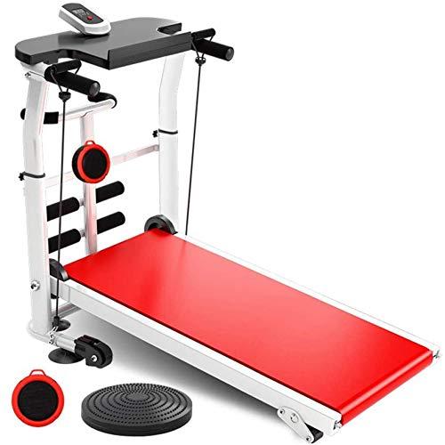Cinta de correr plegable, máquina de correr silenciosa multifunción con cuerda de tensión, pantalla LCD Pantalla de tableta silenciosa Máquina de caminata para el gimnasio para el hogar Jialele