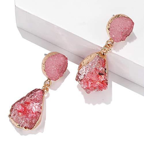 LCBLC rode groene hars steen druppel oorbellen vrouwelijke mooie kristal hanger oorbellen sieraden Pendientes