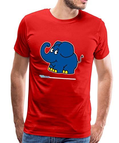 Sendung Mit Dem Elefanten Kleiner Elefant Lächelt Männer Premium T-Shirt, XXL, Rot