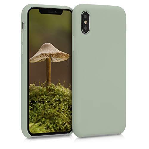 kwmobile Hülle kompatibel mit Apple iPhone XS - Hülle Handyhülle gummiert - Handy Hülle in Graugrün