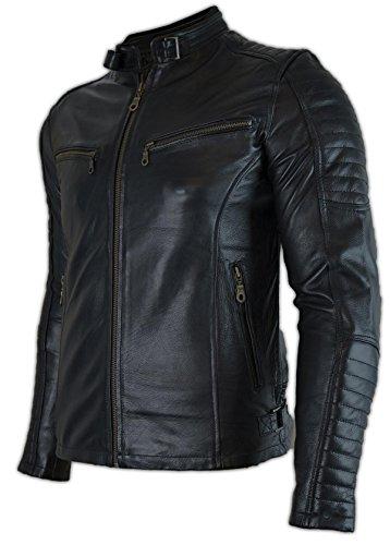 MDM Motorrad Leder Jacke mit Protektoren (2XL)