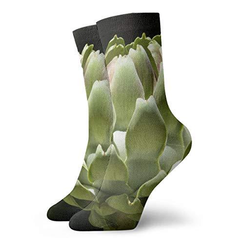 OUYouDeFangA alcachofa huerto vegetal calcetines de algodón divertidos calcetines cortos para yoga, senderismo, ciclismo, correr, deportes de fútbol
