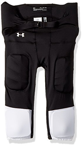 Under Armour Boys' Youth Integrated Pants-Best, Black (001)/White, Youth X-Large
