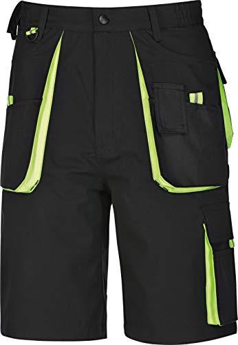 TRIUSO Arbeitsshort Power Kurze Arbeitshose Power Canvas 270 g{m² schwarz-grün Gr.42-66 (52)