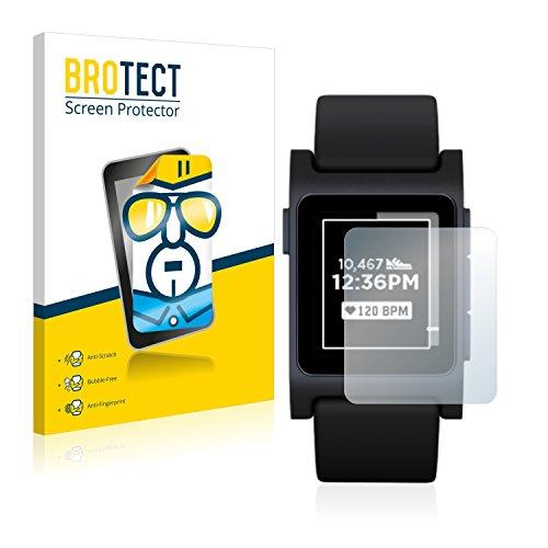 BROTECT Schutzfolie kompatibel mit Pebble 2 Black (2 Stück) klare Bildschirmschutz-Folie