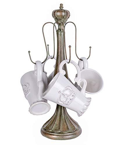 Kaffeebecher Shabby Chic Krone Teeservice Porzellan Tassen Tassenbaum Kaffeegeschirr CW052 Palazzo Exklusiv