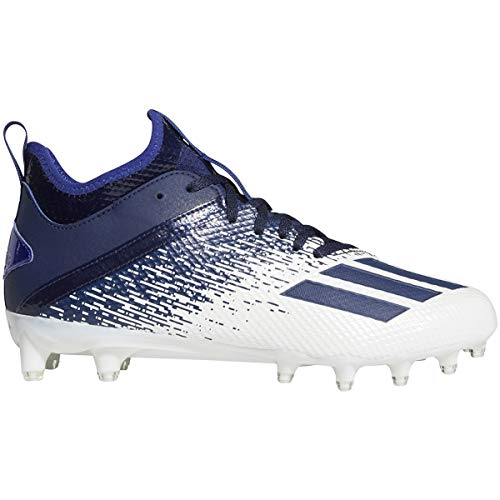 adidas Adizero Scorch Cleat - Men's Football White/Navy Blue