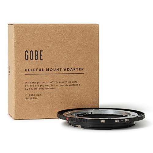 Gobe - Adaptador de Lente Compatible para Lentes Nikon F y cuerpos de cámara Canon EOS...