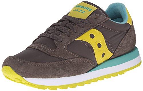 SAUCONY scarpe sneaker jazz original tessuto e pelle donna S1044-343 grigia N. 37.5 EU