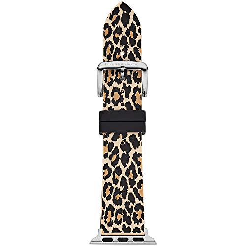 Kate Spade New York Women's Silicone Apple Watch Band 38mm 40mm Color: Leopard (Model: KSS0022)