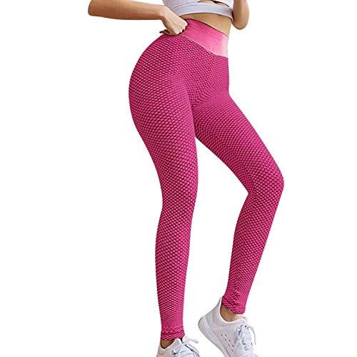 AFFGEQA Damen Yoga Hosen Slim Fit Wabenmuster Mehrere Farben Leggings Fitness Sport Freizeit Lange Yoga Hosen