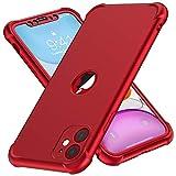 ORETECH Coque Compatible avec iPhone 11, avec [2 x Protecteur D'écran en Verre Trempé] 360°Housse Hybride Robuste 2 en 1...