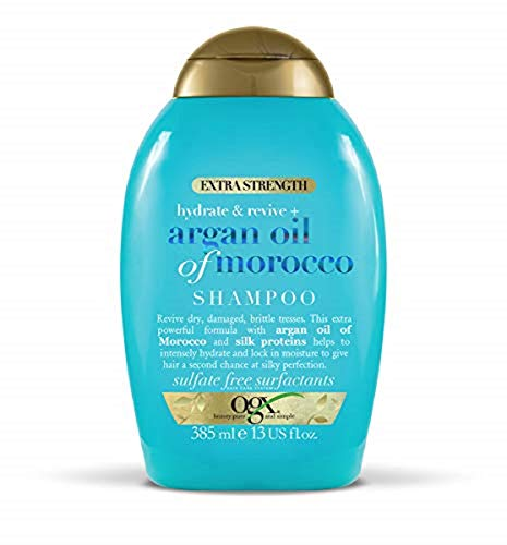 OGX Argan Oil of Morocco Sulfate Free Shampoo, Extra Strength, 385 ml