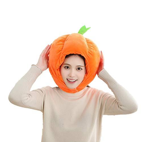 Waroomss Sombrero de peluche con forma de calabaza para Halloween, divertido regalo de Halloween para decoracin de cosplay, clida para nios y adultos