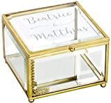 LAUBLUST Schmuckkästchen Personalisiert - Liebesgeschenk & Geschenk zur Hochzeit | ca. 11x11x7cm, Glas | Serie: Willich