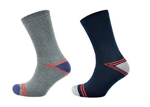 4 Pairs Mens Undercover Trekking Socks SK636 Blue/Grey