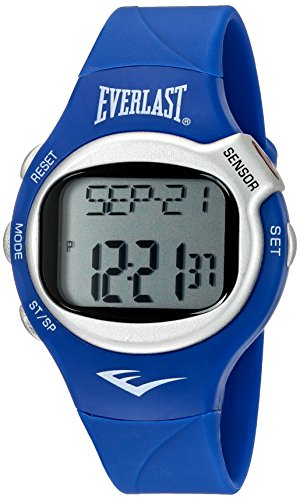 Everlast 'Heart Rate Monitor' Automatic Plastic and Rubber Fitness Watch, Color:Blue (Model: EVWHR005NB)