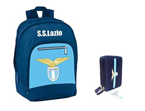 Lazio ZAINO SCUOLA STADIO SS UFFICIALE 2018/2019 CURVA TIFOSO + ASTUCCIO 3 PIANI PIENO