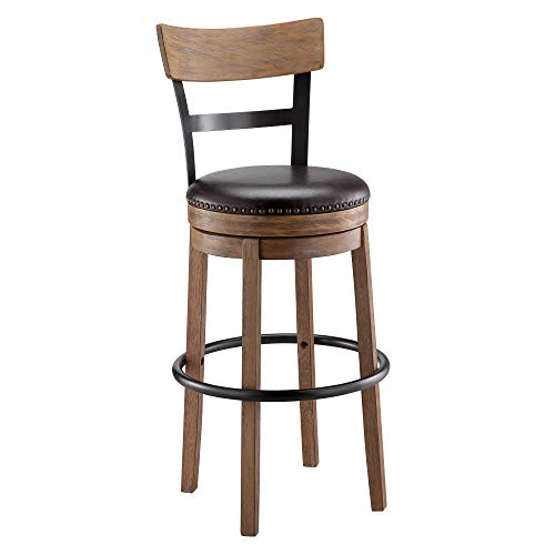 wood bar stools swivel - 9
