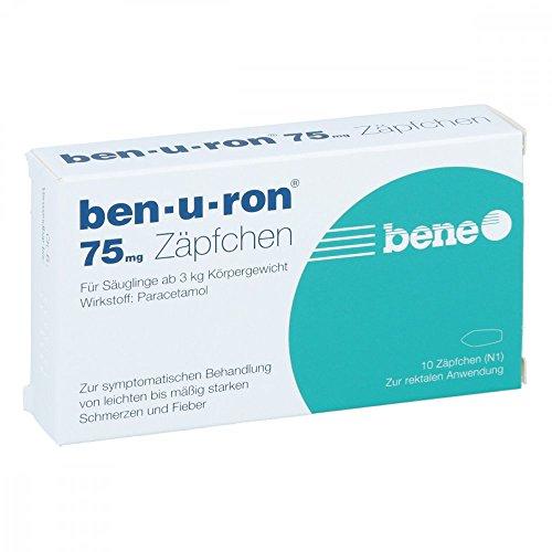 ben-u-ron 75 mg Zäpfchen, 10 St. Zäpfchen