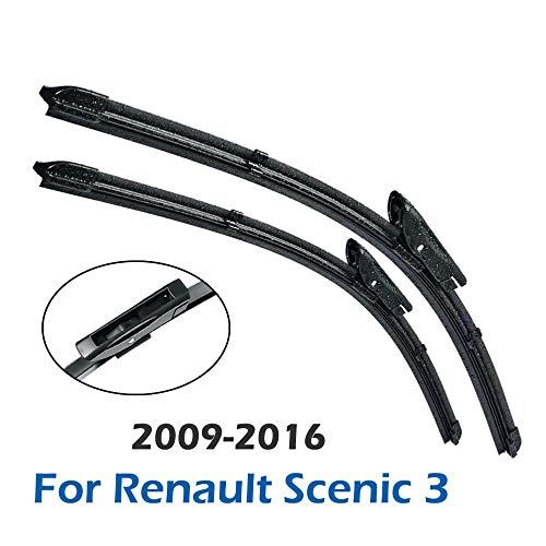 ZHHRHC Voorruit Voorruit Ruitenwisser Voorruitenwisserbladen, Voor Renault Scenic 3 2009-2016
