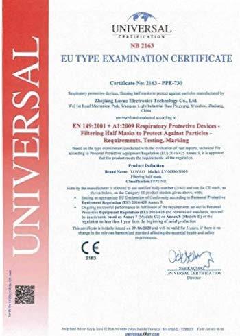 Atemschutzmaske FFP2 – EU CE 2163 Zertifiziert EN 149 Schutzmaske 20 Stück WEIß - 3