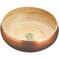 ARTESÀ Master Class 26 cm tamaño Grande Gillian Hollingsworth Lacado de Cobre Cuenco de bambú, Dorado