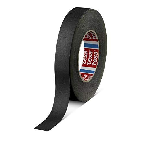 tesa band 4541 | flexibles, hochreißfestes, unbeschichtetes Gewebeband | 145 mesh, Länge: 50 m, versch. Farben und Breiten (9 mm, schwarz)