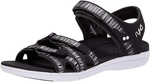 Ryka Women's Savannah Sandal, Black, 8 W US