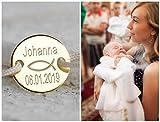 Taufarmband 925er, Armband zur Kommunion, Babyarmband Namensgravur, Kinder Namensarmband, Gravurarmband, Personalisiertes Armband für Kinder