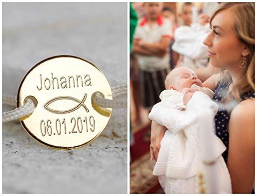 Taufarmband 925er, Armband zur Kommunion, Babyarmband Namensgravur, Kinder Namensarmband,...